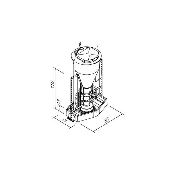 3IN1 NX MAXI 80W, 100 L MED VINKELRAMME, 60-75 DYR/AUTOMAT - USAMLET