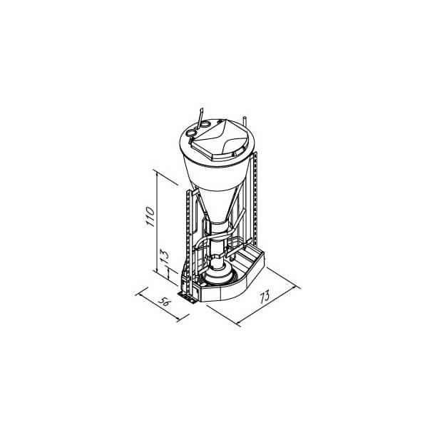 3IN1NX MAXI 70RW VANDCIRKULATION VINKELRAMME, 50-60 DYR/AUTOMAT