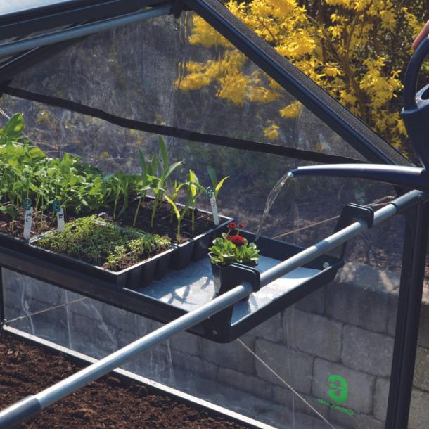Plantebakke med vandingsriller. Inkl. vandingsdug og ophæng