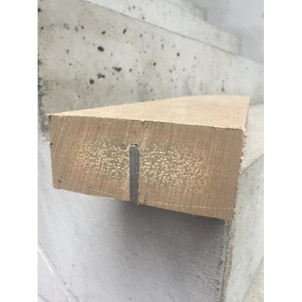 Plastplanke med jernforstærkning 5x12x180 cm