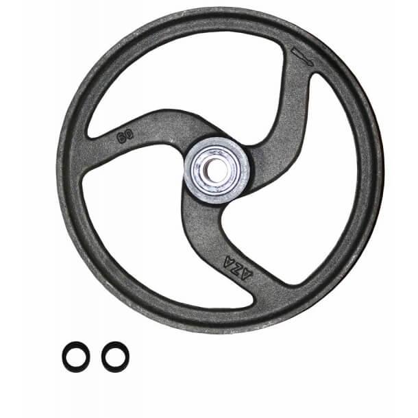 60 mm Hjørnehjul med kuglelejer NC glat